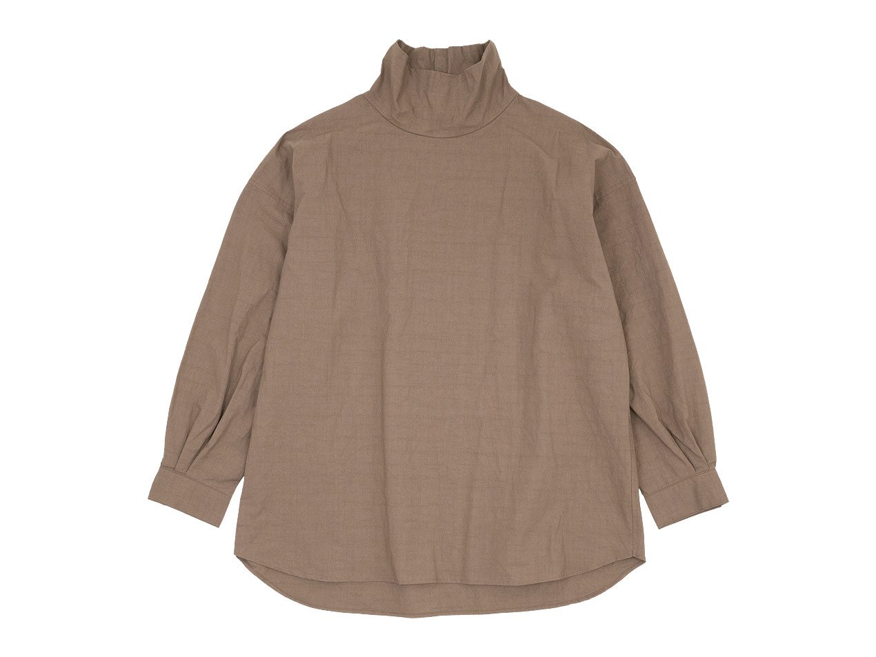 TOUJOURS High Neck Big Shirt 32Café au Lait 【MM33DS01】