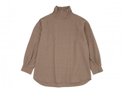 TOUJOURS High Neck Big Shirt 32Café au Lait 【MM33DS01】