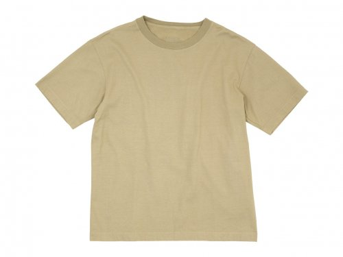 TOUJOURS Big T-shirt 38Dyed Camel 【LM33XC10】