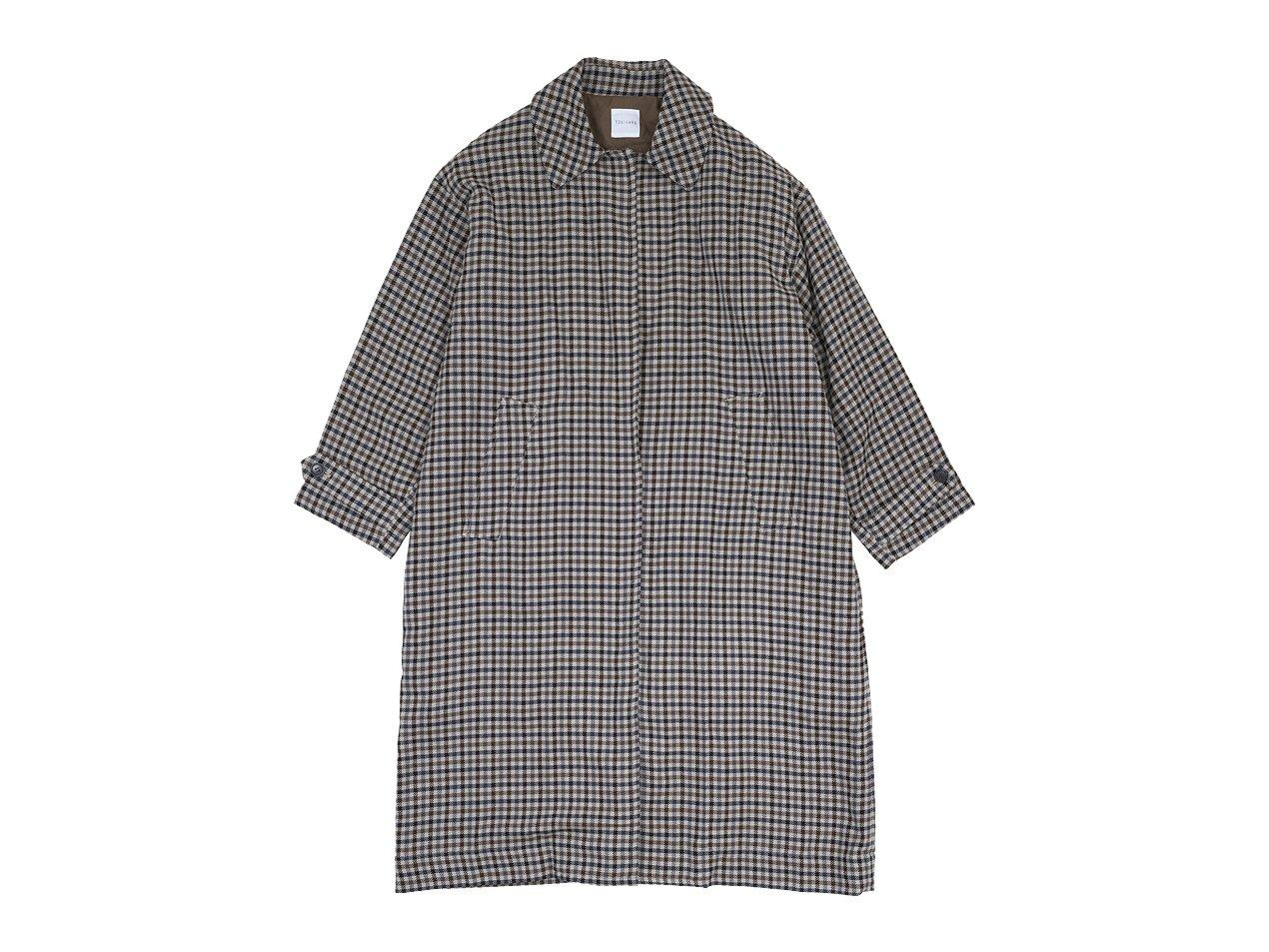 TOUJOURS Oversized Soutien Collar Robe Coat 71Gun Club Plaid 【KM33HC01】