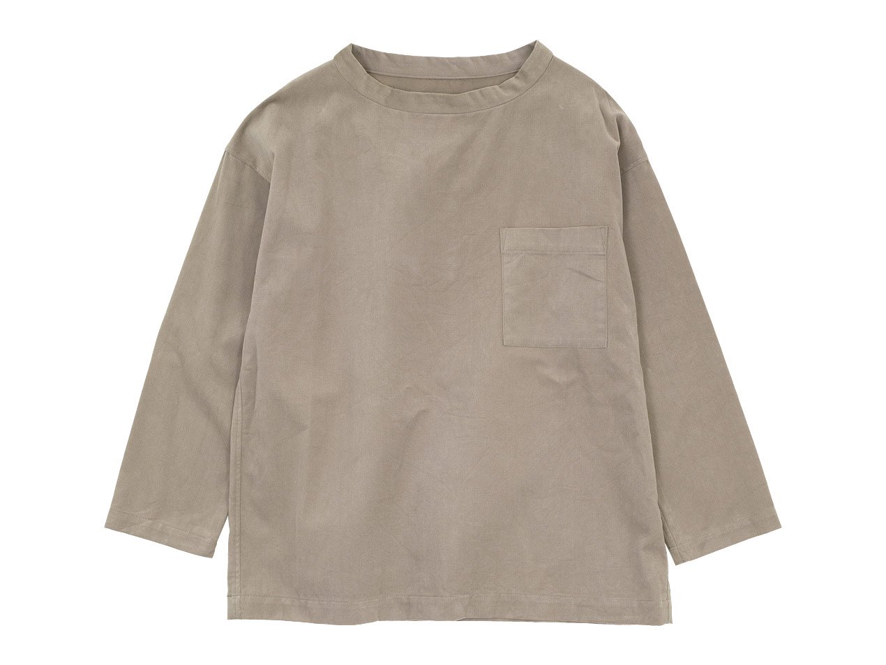 TOUJOURS Long Sleeve Big T-shirt 31Sand Gray 【KM33IS04】
