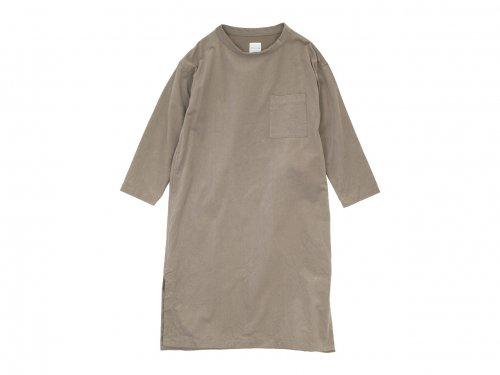 TOUJOURS Long Sleeve Big T-shirt Dress 31Sand Gray 【KM33IS05】