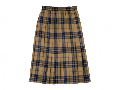 Charpentier de Vaisseau Bride O'neil of Dublin プリーツスカート Long BEIGE x BLACK CHECK