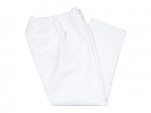Charpentier de Vaisseau Bradley Cotton Linen Herringbone Pants WHITE