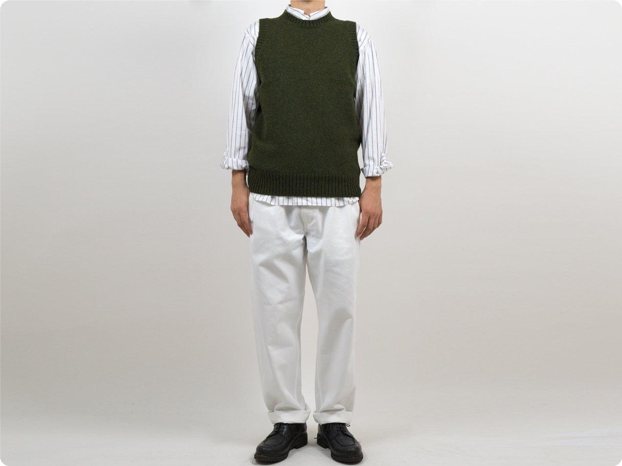 Charpentier de Vaisseau Kurson Wool Knit Vest OLIVE