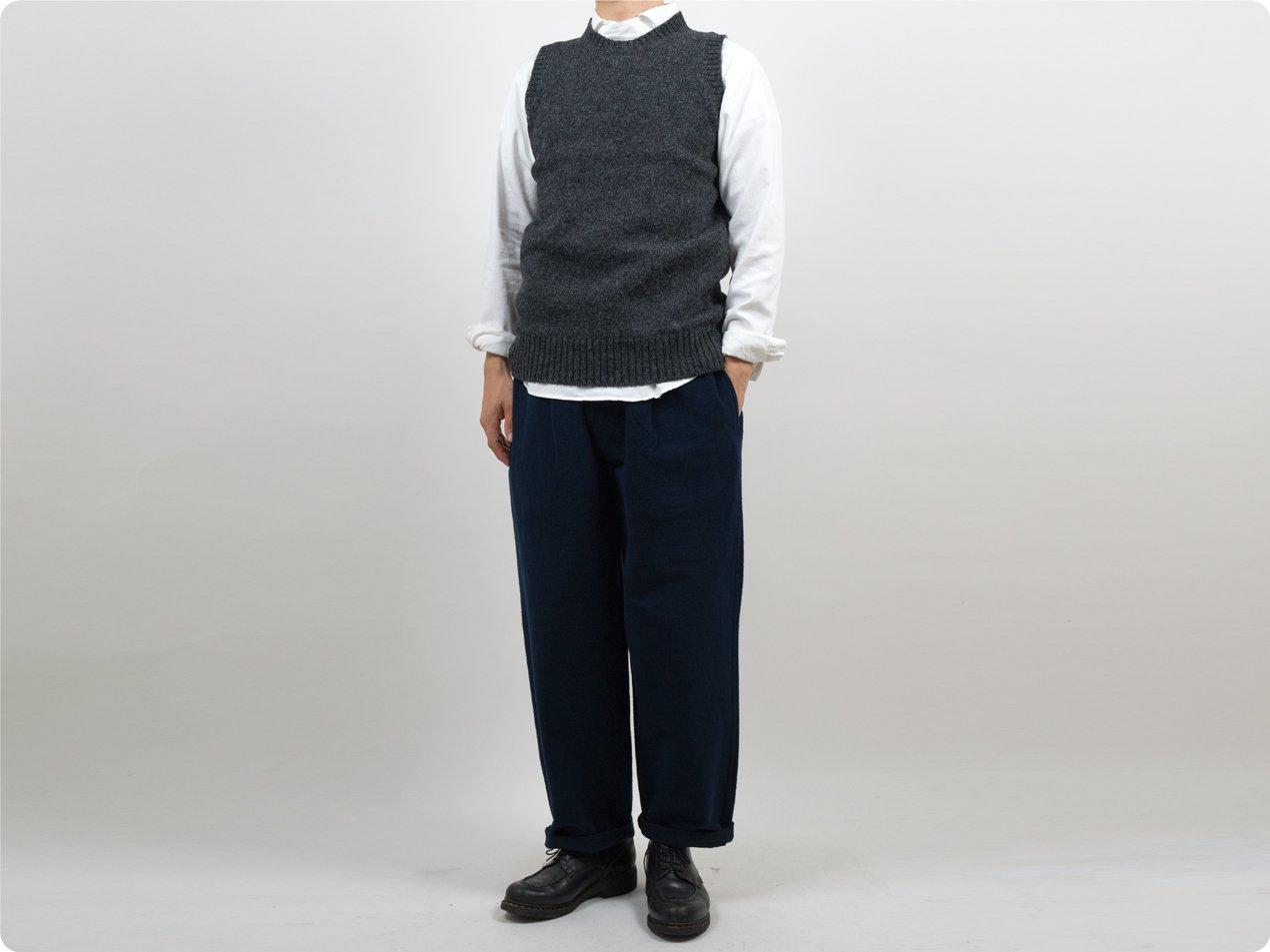 Charpentier de Vaisseau Kurson Wool Knit Vest DARK GRAY