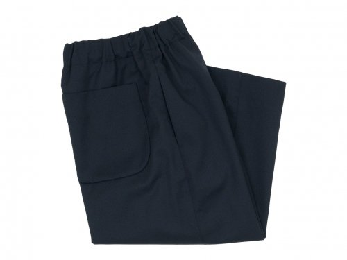 Atelier d'antan Ruff(ルフ) Wool pants BLACK