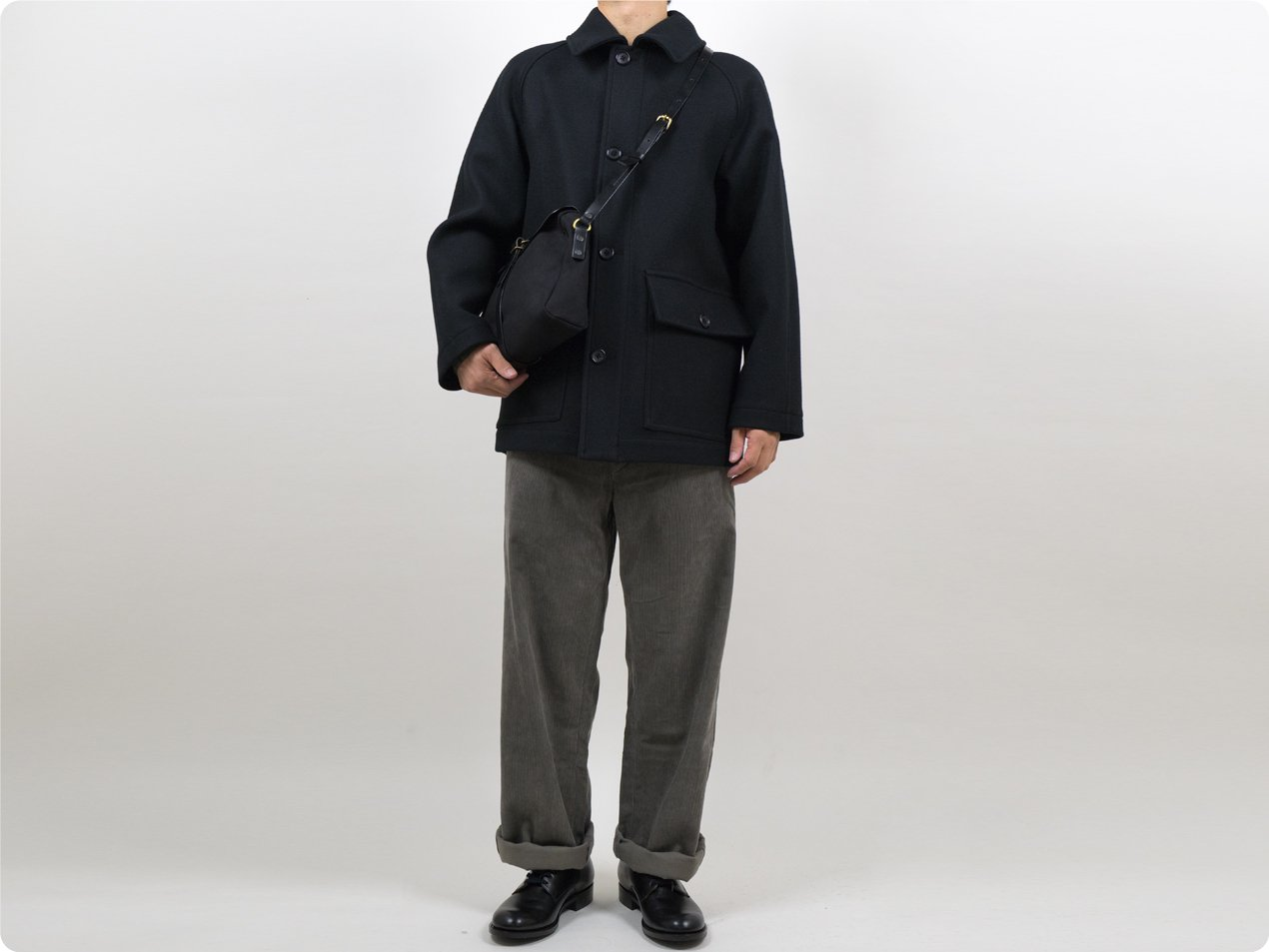 MARGARET HOWELL HEAVY FLANNEL COATING COAT 10Black 〔メンズ〕