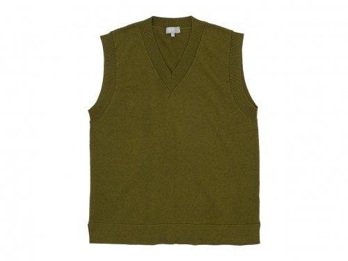 MARGARET HOWELL WASHABLE COTTON WOOL VEST 181Khaki 〔メンズ〕