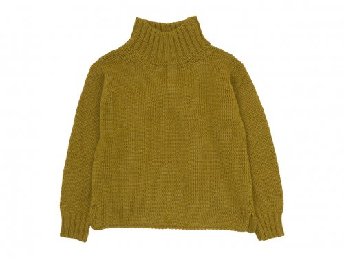 MHL. BRITISH WOOL KNIT 63Yellow 〔レディース〕