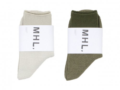 MHL. MELANGE COTTON SOCKS〔レディース〕