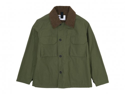 MHL. PROOFED PLAINWEAVE COTTON BLOUSON 147Green 〔メンズ〕