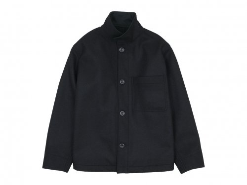 MHL. COARSE WOOL MELTON BLOUSON 10Black 〔メンズ〕