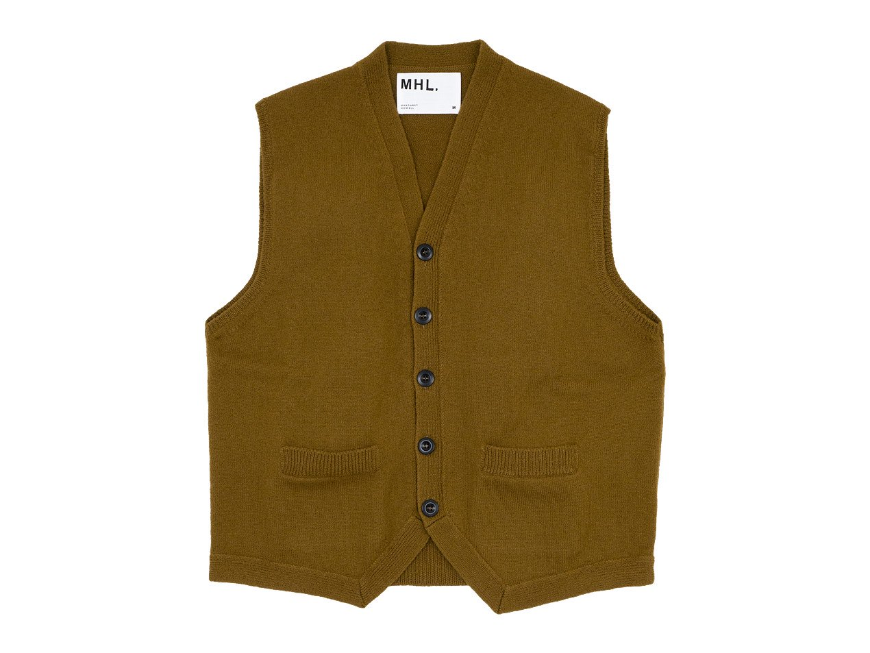 MHL. FELTED WOOL VEST 51Brown 〔メンズ〕