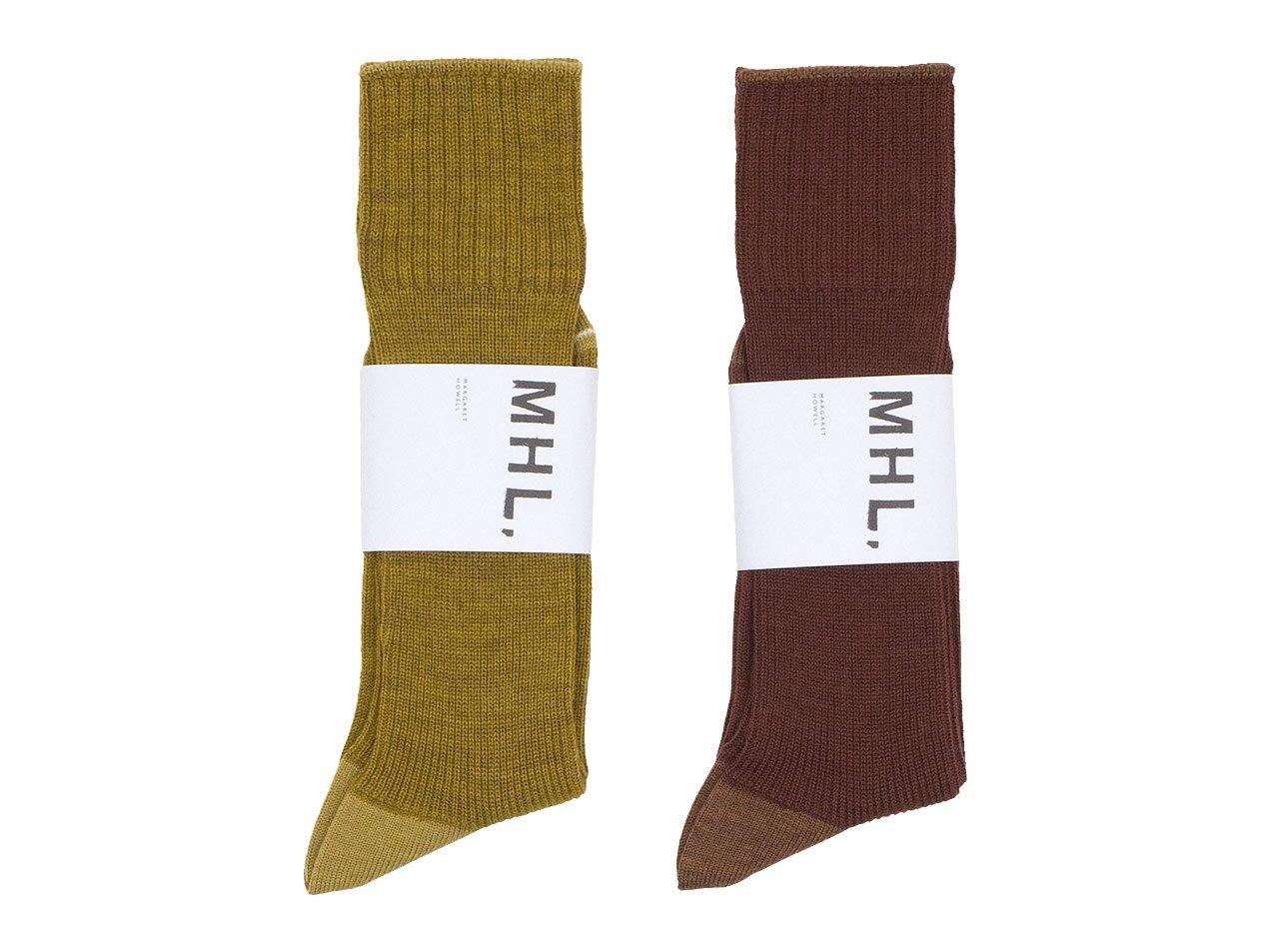 MHL. MELANGE WOOL SOCKS 〔メンズ〕