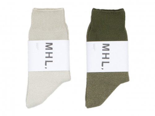 MHL. MELANGE COTTON SOCKS 〔メンズ〕
