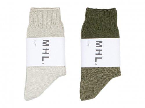 MHL. MELANGE COTTON SOCKS 〔メンズ〕
