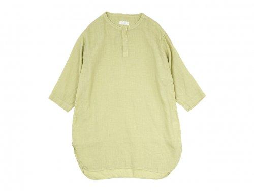 RINEN 60/1リネンローン 七分袖比翼バンドカラーシャツ 06 LIGHT YELLOW〔レディース〕