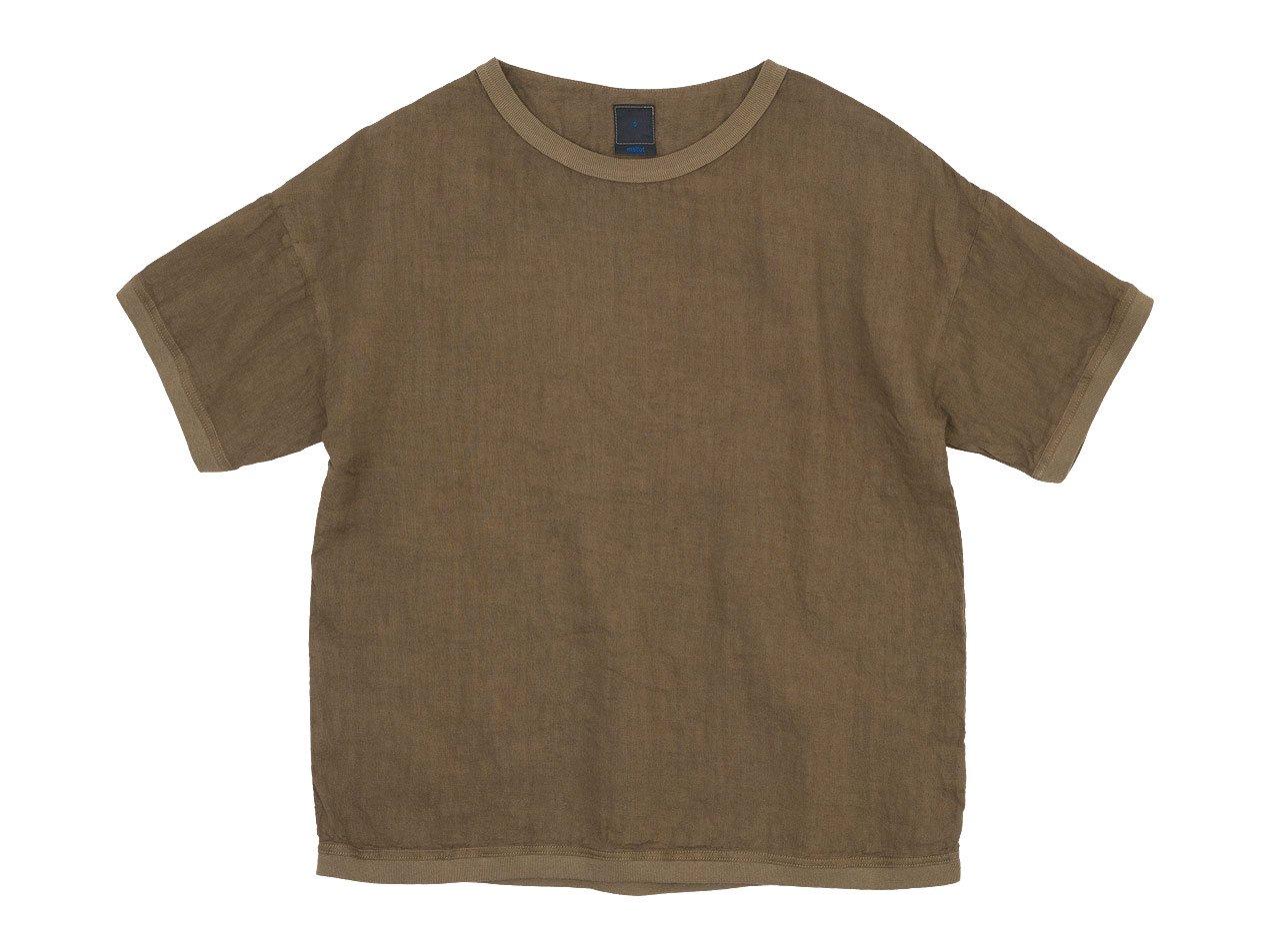 maillot linen shirts Tee BROWN