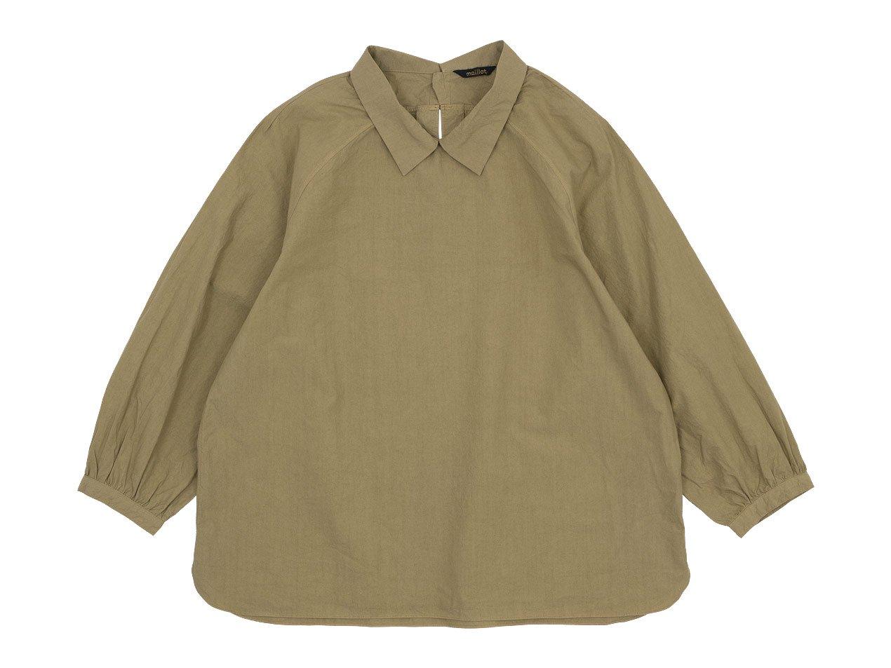 maillot mature rub cotton polo smock shirts BEIGE