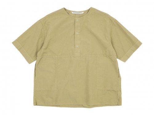 Charpentier de Vaisseau Selma Front Button Short Sleeve Shirts BEIGE