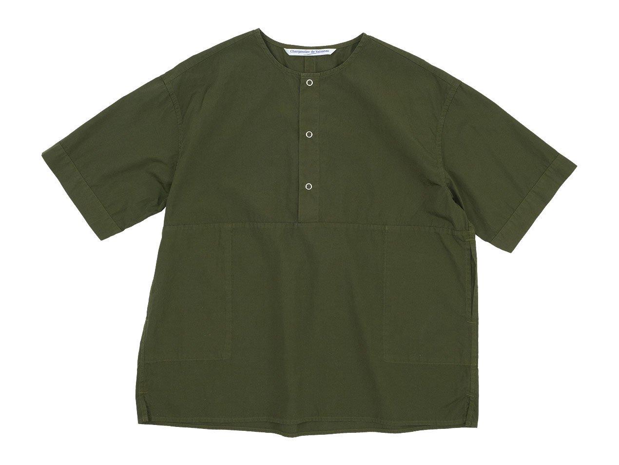 Charpentier de Vaisseau Selma Front Button Short Sleeve Shirts OLIVE