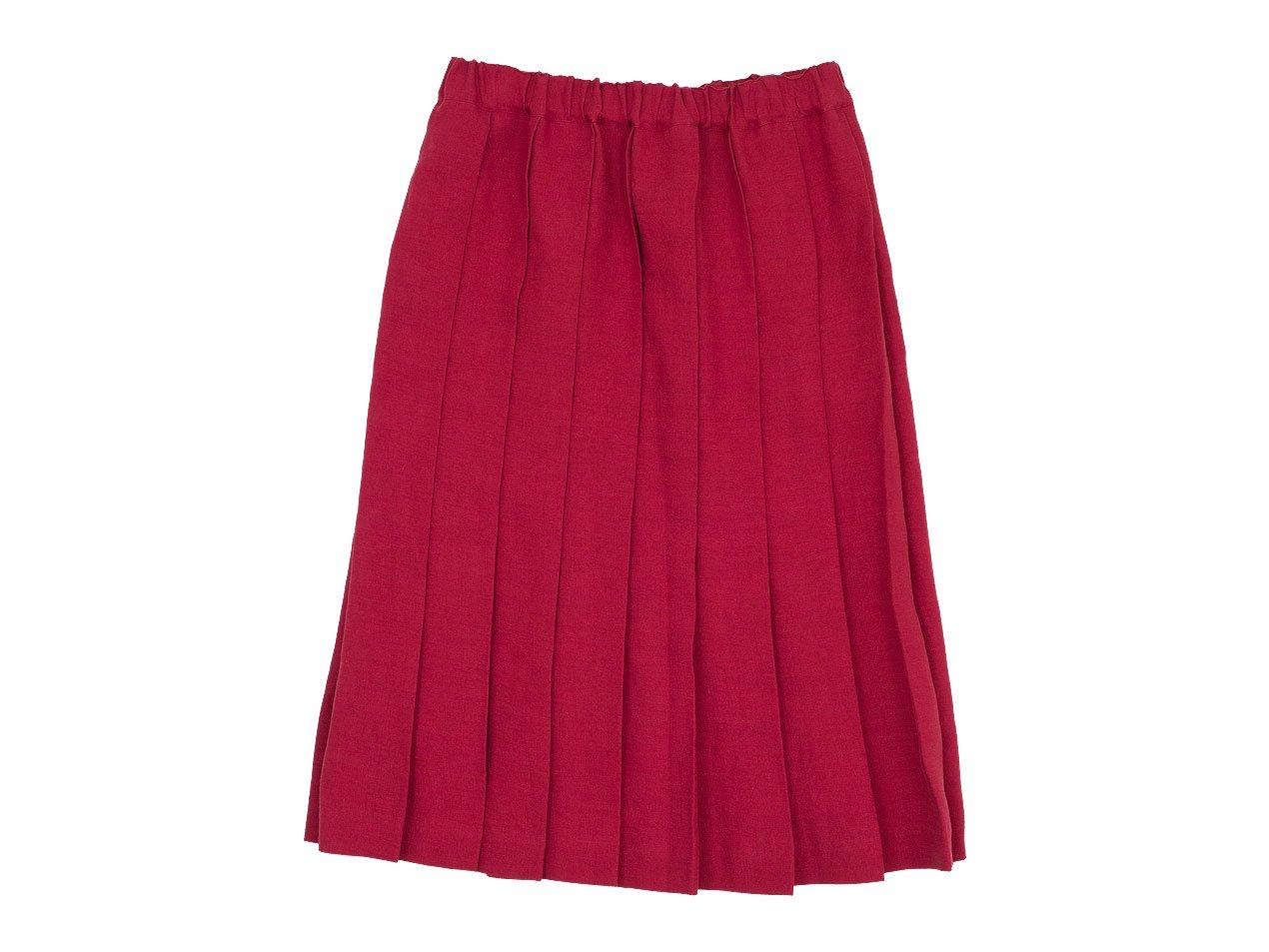 Charpentier de Vaisseau Belle リネンプリーツスカート RED