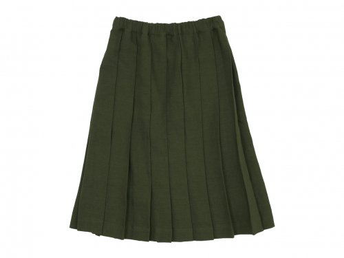 Charpentier de Vaisseau Belle リネンプリーツスカート OLIVE