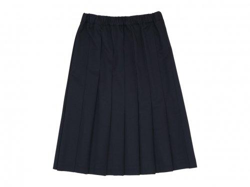 Charpentier de Vaisseau Belle ギャバジンプリーツスカート BLACK