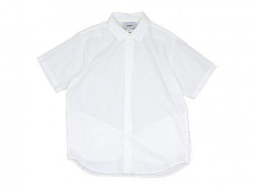YAECA コンフォートシャツ リラックス ロング 半袖 WHITE 〔メンズ〕