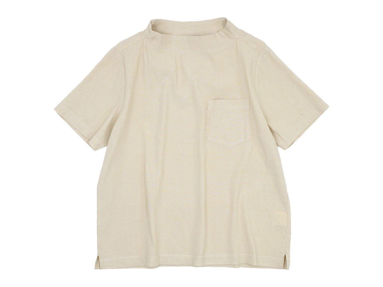 nisica ガンジープルオーバーシャツ 半袖 BEIGE