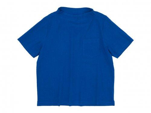 nisica ガンジープルオーバーシャツ 半袖 BLUE