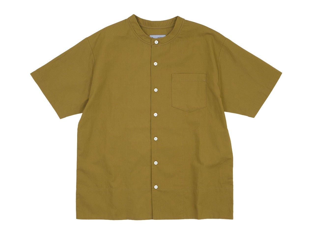 nisica ベスボールシャツ 半袖 CAMEL