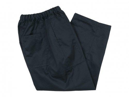 homspun 高密度ウェポンひもワイドパンツ ブラック