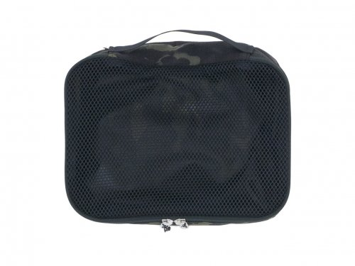 ENDS and MEANS Travel Pouch M BLACK MULTI CAM