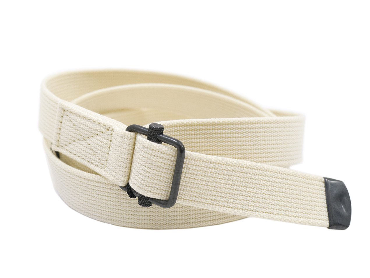 MHL. NARROW MILITARY BELT 32WHITE