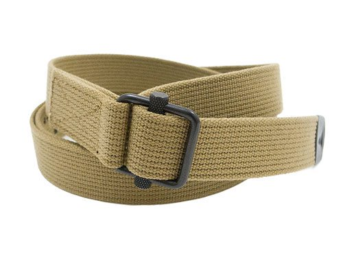 MHL. NARROW MILITARY BELT 43BEIGE