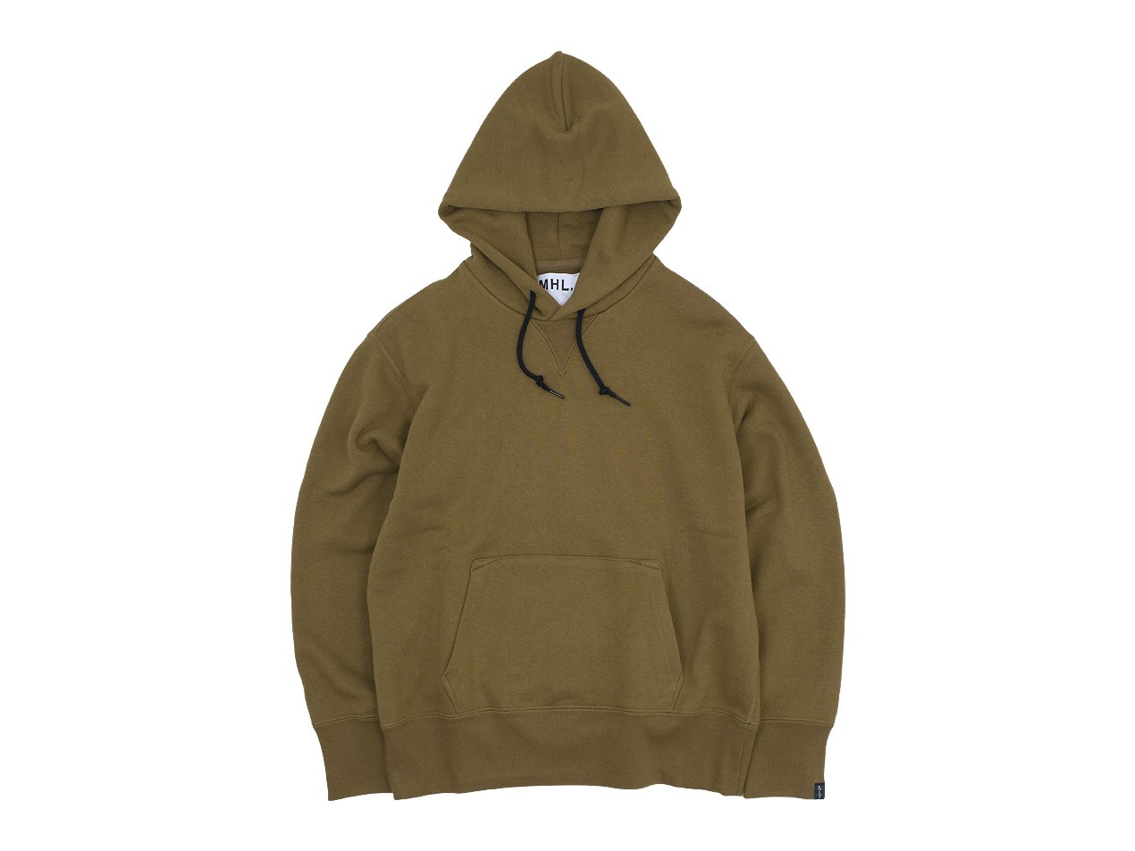 MHL. LIGHT LOOPBACK COTTON HOODED PARKA 44BEIGE 〔レディース〕