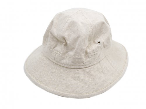 MHL. NATURAL DENIM HAT 42BEIGE