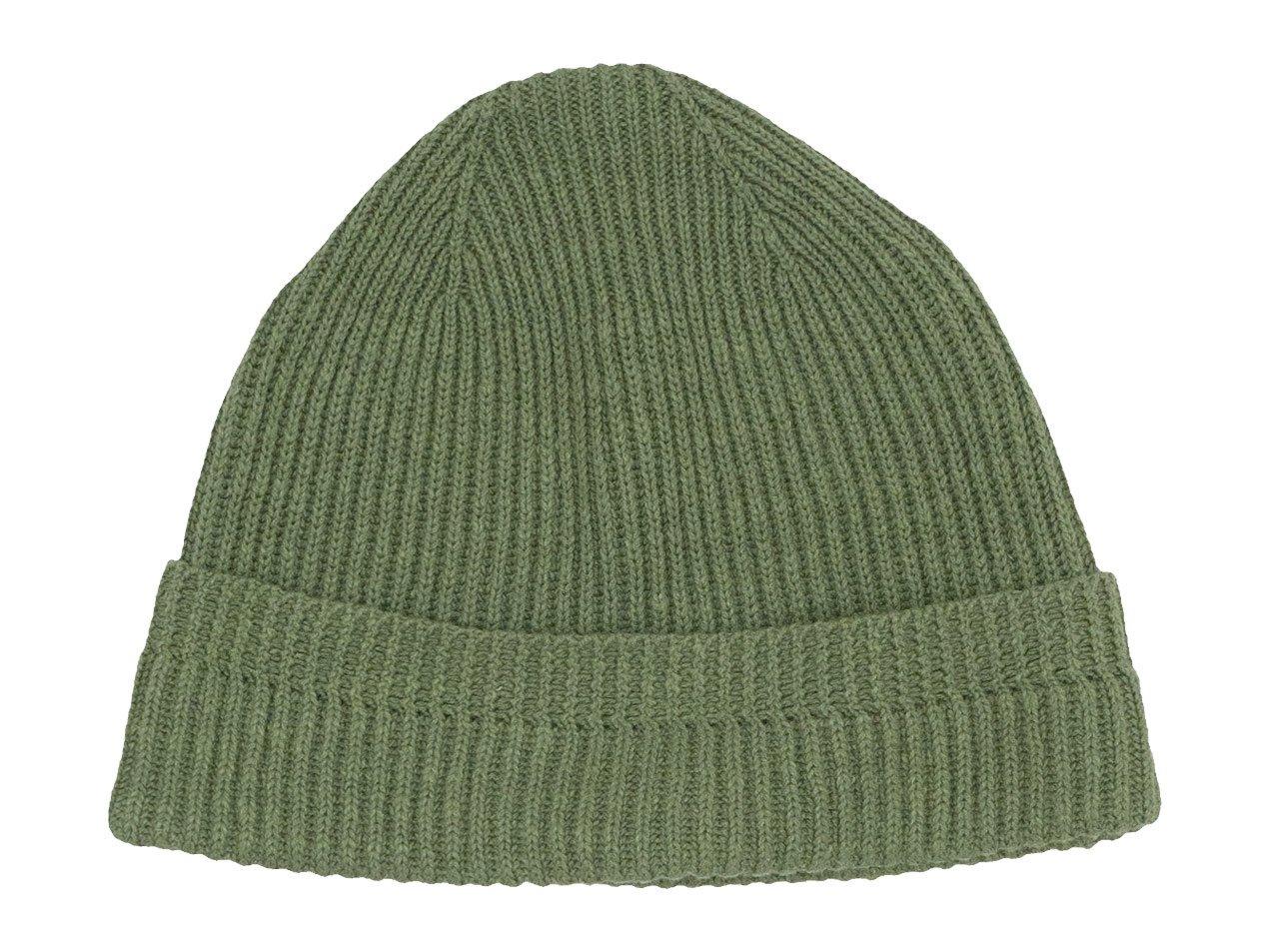 MHL. COTTON LINEN BEANIE CAP 147GREEN