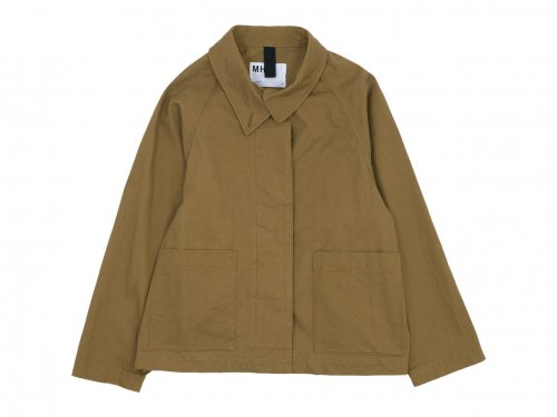 MHL. WASHED COTTON DRILL RAGLAN JACKET 51BROWN 〔レディース〕