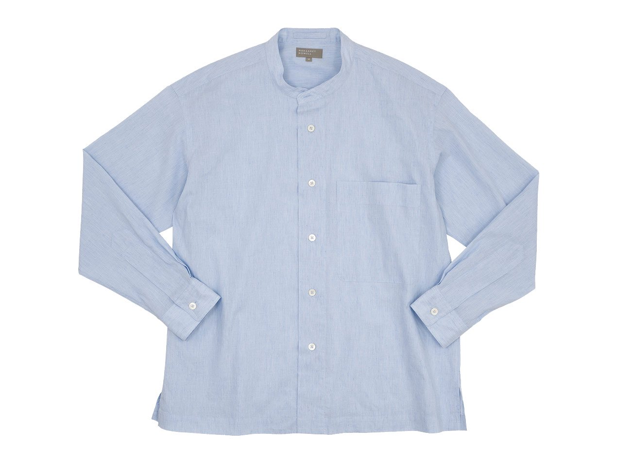 MARGARET HOWELL END ON END COTTON LINEN I SHIRTS 112BLUE 〔メンズ〕