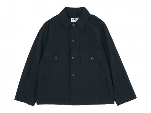 MHL. SHEET COTTON LINEN BLOUSON 10BLACK 〔メンズ〕