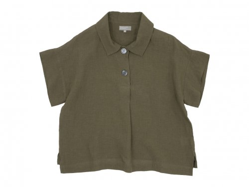 MARGARET HOWELL FINE LINEN PULL ON SHIRTS 180KHAKI〔レディース〕