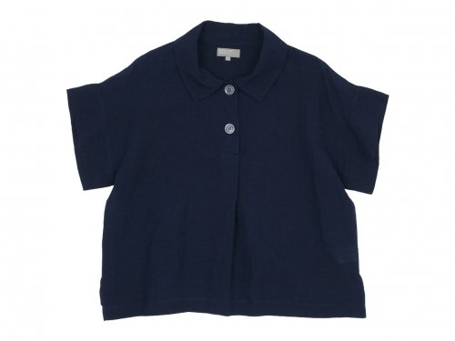 MARGARET HOWELL FINE LINEN PULL ON SHIRTS 121NAVY〔レディース〕