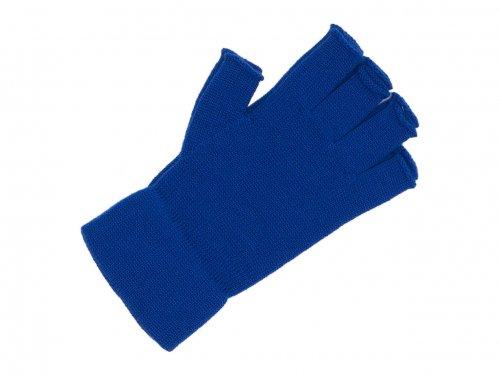 homspun 防縮ウール 指なしグローブ ブルー