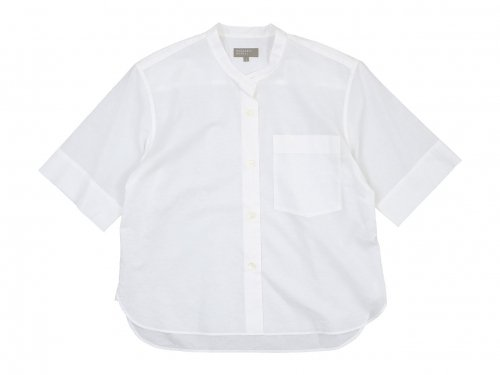MARGARET HOWELL COTTON LINEN SHIRTS 30WHITE〔レディース〕