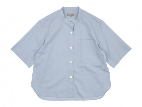 MARGARET HOWELL COTTON LINEN SHIRTS 111BLUE〔レディース〕
