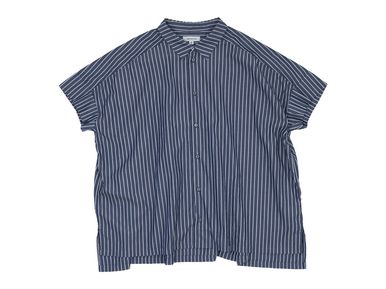 ordinary fits WIDE BARBER SHIRT STRIPE NAVY