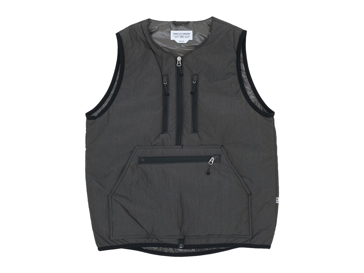 ENDS and MEANS Tactical Puff Vest AFRICAN BLACK